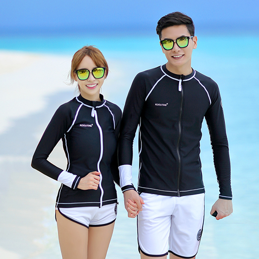 OCEAN ZIP-UP COUPLE RASHGUARD (RT0042)[커플가격]