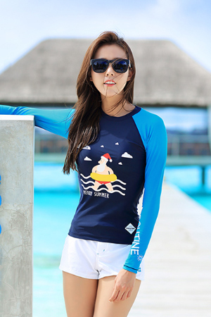 MERRY SUMMER WOMAN RASHGUARD (RT0018)