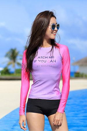 CATCH ME WOMAN RASHGUARD (RT0036)