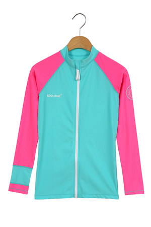 OCEAN  ZIP-UP WOMAN RASHGUARD (RT0042-3)